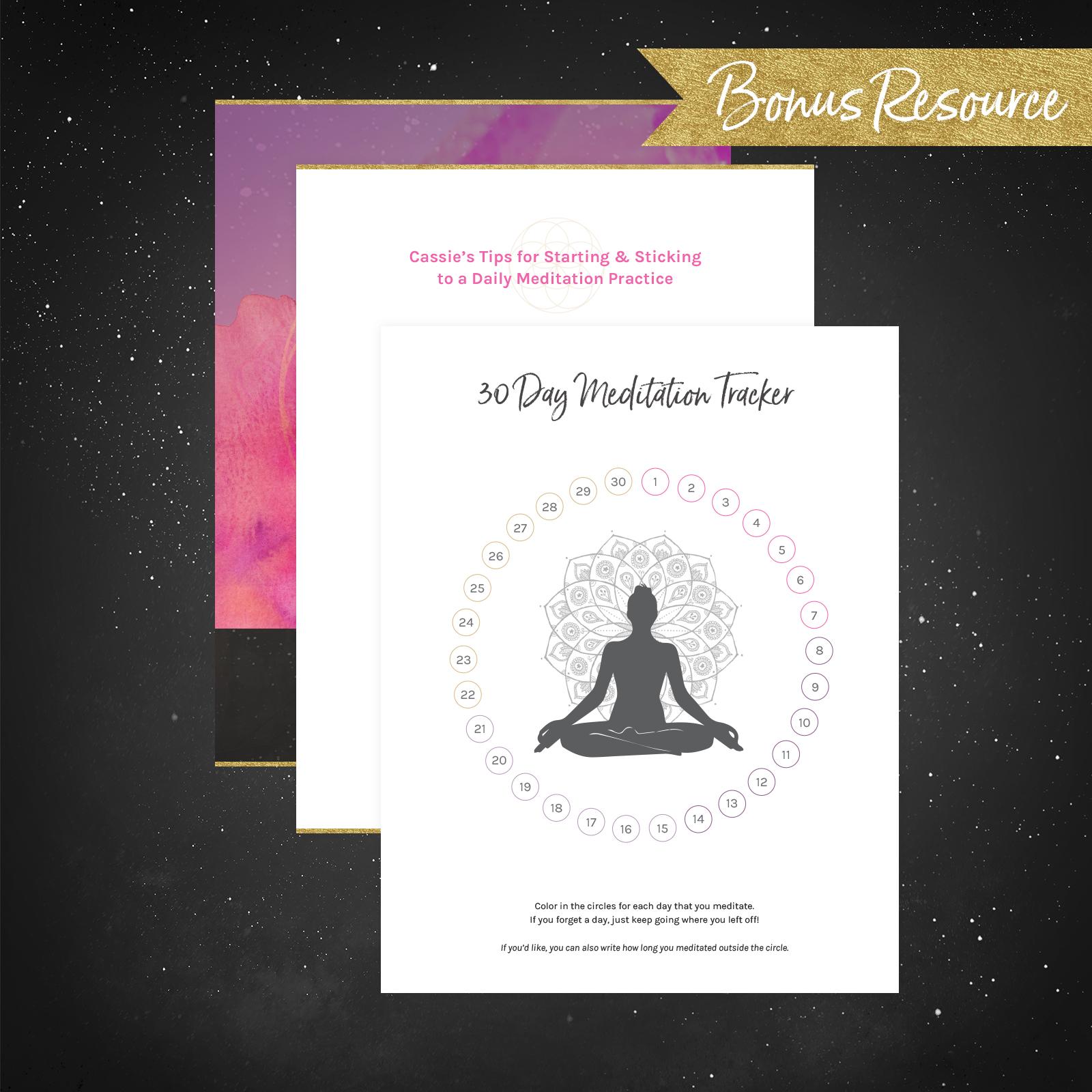 30 Day Meditation Tracker